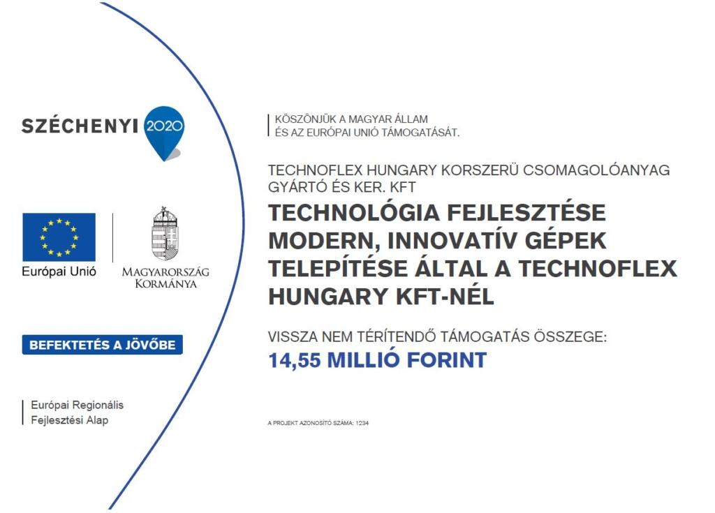 Gazdaságfejlesztési és Innovációs Operatív Program keretén belül támogatást nyertünk el 1