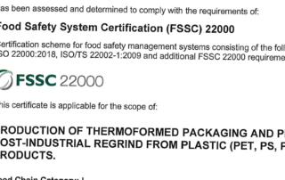 TECHNOFLEX Kunstoffverpackung FSSC