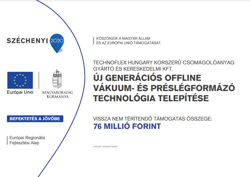Gazdaságfejlesztési és Innovációs Operatív Program keretén belül támogatást nyertünk el - 2020 1